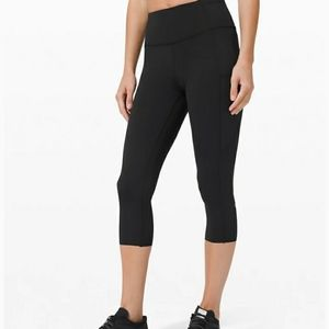 "Lululemon fast and free crop 19"" cool"
